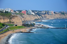 Barranco and Miraflores coast line